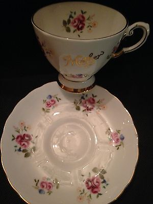 """Royal Chelsea English Bone China Cup & Saucer """"Mother"""" Pink Rose Bunches!"""