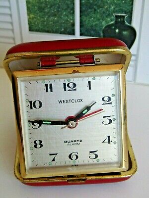 Vintage Westclox Travel Alarm Clock Red - Working and Working Alarm