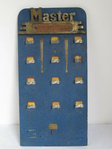 Antique Master Lock  Padlock Store Display Wall Hanger