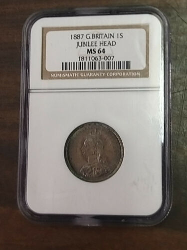 Coin - Europe UK(Great Britain) - 1887 - 1S - MS64 - NGC Certified