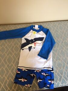 New boys swimsuit and trunks- size 7