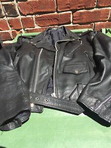 Manteau cuir moto XL