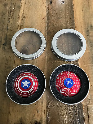 Captain America Shield   Spider Man Fidget Hand Spinner Toy Focus Adhd Autism