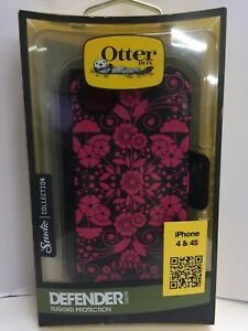 OtterBox Defender Series Case W/Holster for iPhone 4/4S -  Pink /Perennial - NEW