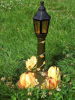 Solarlaterne mit Kürbis und Getreide, Halloween Gartendekoration Leuchte 31cm