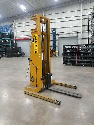 Lift Rite Lt 144 Double Stage Electric Pallet Stacker Non Functional