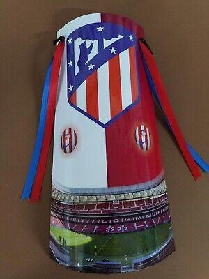 Teja decorada de equipo de fútbol del Atlético de Madrid
