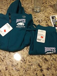 Roots hoodie and pants NWT