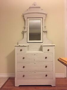 Antique Dresser and Stand