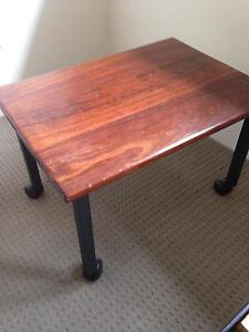 Wooden bedside table on castors High Wycombe Kalamunda Area Preview