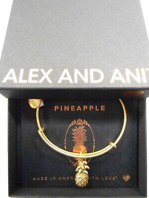 Alex And Ani Pineapple Iii Expandable Wire Bracelet Rafaelian Gold Nwtbc