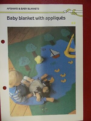 Free Crochet Patterns Blanket (Applique Baby Blanket crochet PATTERN INSTRUCTIONS FREE)