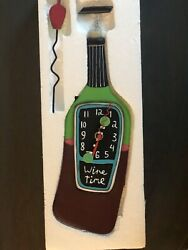Wine Time Wall Clock by Allen Designs