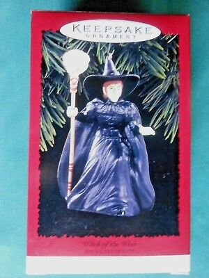 HALLMARK 1996 THE WITCH OF THE WEST WIZARD OF OZ  CHRISTMAS ORNAMENT-EUC