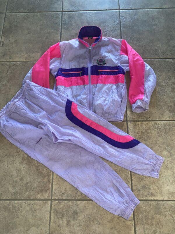 VTG 1980's HEAD Sportswear Tennis Track Suit Jogging Jacket And Pants Women P