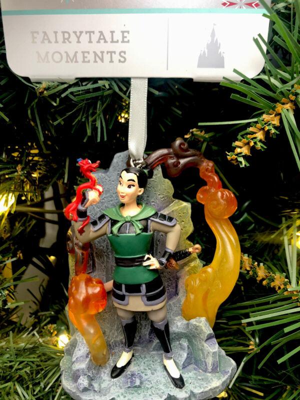 2021 Disney Parks Christmas Store Sketchbook Ornament Fairytale Moments Mulan