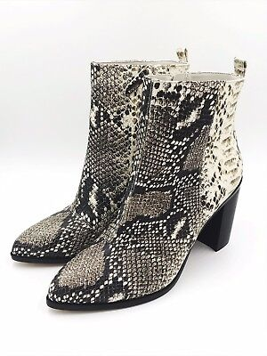 TRENDING 2019 DKNY Houston Womens Ankle Boots Snakeskin Print