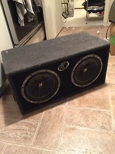 "2 10"" kicker comp subs and 500 watt kicker amp"