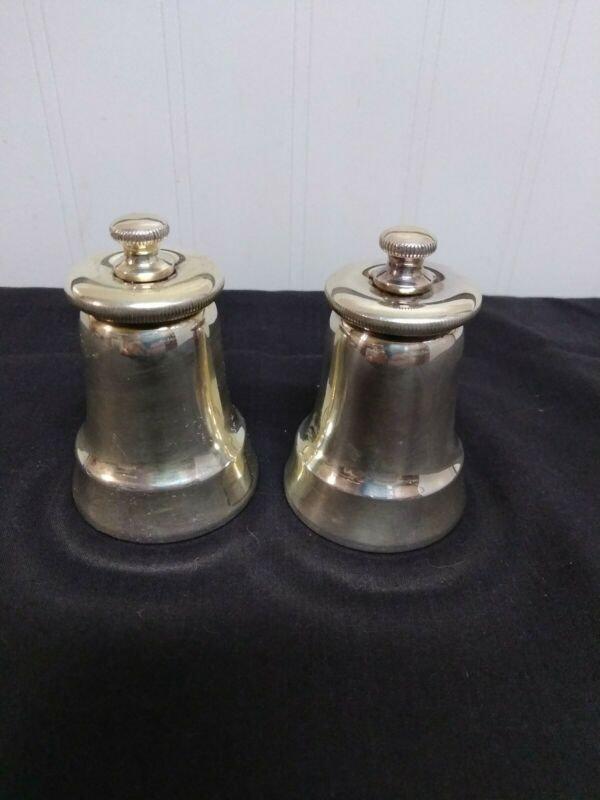 Antique Silver Gorham Style Pepper Mill / Grinder (1 pair)