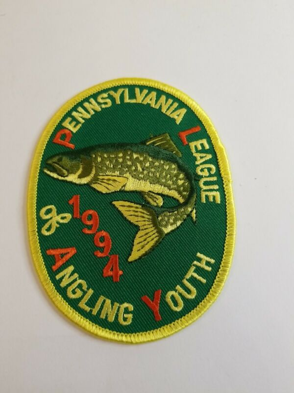 1994 Pennsylvania League of Angling Youth Fishing Patch...Free Shipping!