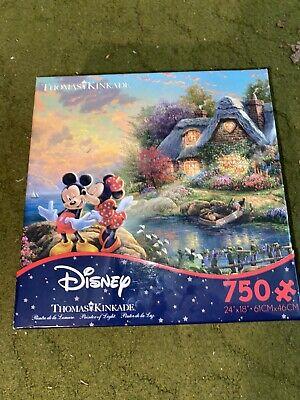 Disney Thomas Kinkade Puzzle 750 piece Mickey & Minnie Sweetheart Cove BRAND NEW