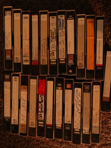 VHS LOT SOLD AS BLANK- MTV,HOWARD STERN, 20+ TAPES