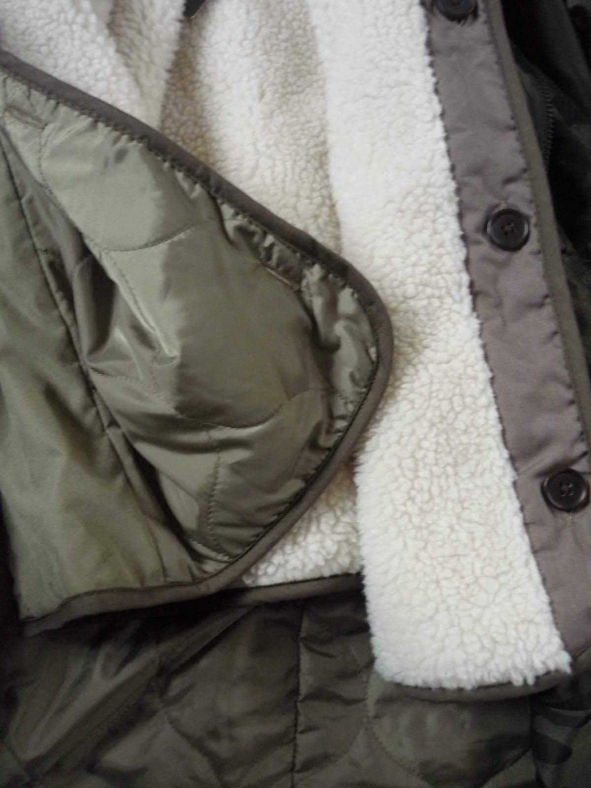22216b421658c ... NWT Abercrombie&Fitch Hollister Sherpa Fur 3-In-1 Olive Camo Parka  Jacket Coat фото ...