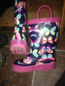 Carters girls toddler size 8 rubber rain boots
