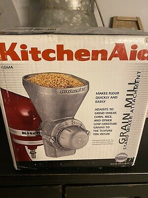 Kitchen Aid Grain Mill Attachment In Box With Instruction Manual