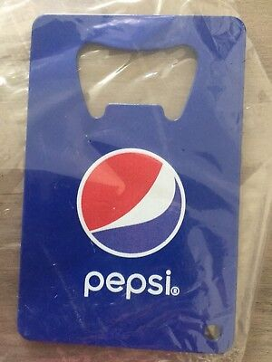 PEPSI Cola + UEFA Champions Soccer League Credit Card Bottle Opener Keychain - Credit Card Bottle Opener