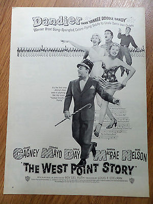 1950 Movie Ad The West Point Story Cagney Mayo Day