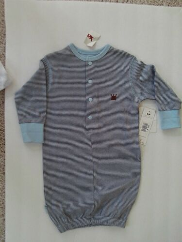 KUSHIES ONE PIECE - LIGHT BLUE/BROWN - 3-6 MONTHS -NWT