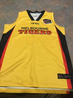 Collectable NBL basketball Melbourne Tigers jersey