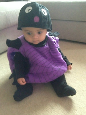 FANCY DRESS HALLOWEEN SPIDER SUIT BABY TODDLER BOYS OR GIRLS 6-36 MONTHS