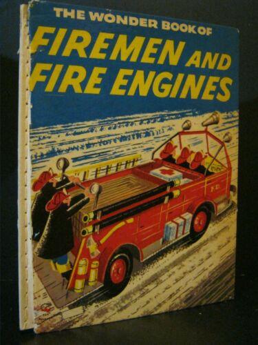 VINTAGE - FIREMEN AND FIRE ENGINES - 1956 - CHILDREN