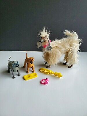 Beauty, 1979 Barbie Doll Dog Afghan Hound With Puppies and accessories.