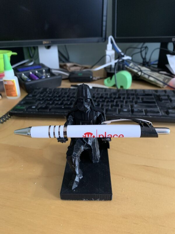 3D Printed Star Wars Darth Vader Pen & Ring Holder Black