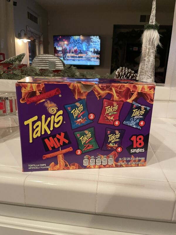 Takis Mix 1 oz Variety ( Pack of 18 ) NET WT 510.3g  (See Description Flavors)