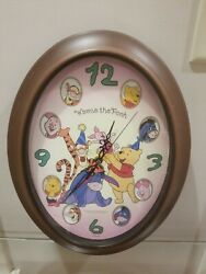 Disney Winnie the Pooh and Tigger 14inch Battery Operated Wall Clock Cute