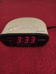 Sony Dream Machine Alarm Clock Radio-ICF-C211—Rare White Color, Great Condition