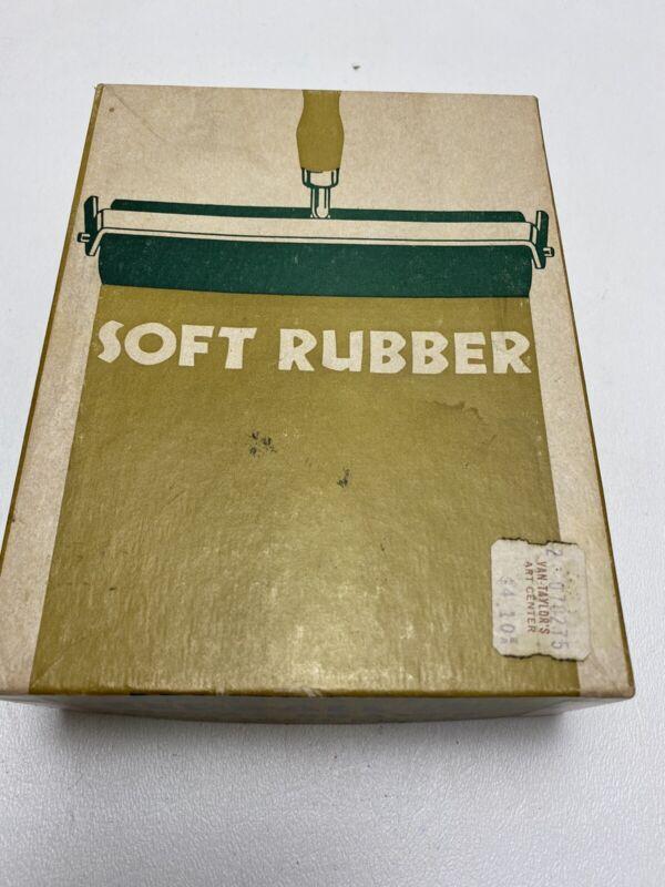 Vintage Printmaster Speedball Soft Rubber Roller No. 64 Original Box
