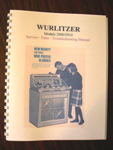 Wurlitzer Model 2900 Jukebox Manual