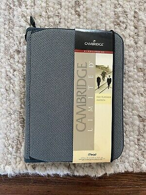 Mead Cambridge Limited Day Planner Agenda 47536 1999 Zipper 8.5 X 5.5 Pages