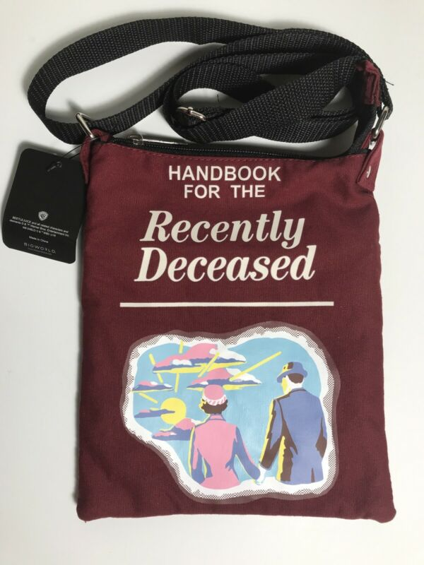 BioWorld Beetlejuice Handbook For The Recently Deceased Passport Crossbody Bag
