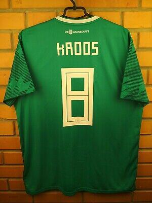 80867c388 Kroos Germany soccer jersey XL 2019 away shirt BR3144 football Adidas