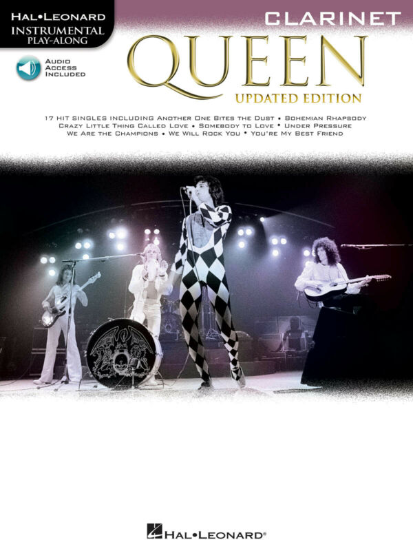 Queen Updated Edition Clarinet Solo Sheet Music 17 Songs Play-Along Book & Audio