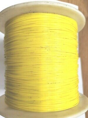 Teflon 22 Awg Yellow Stranded Wire Silver Plate Copper 1000 Ft Free Shipp
