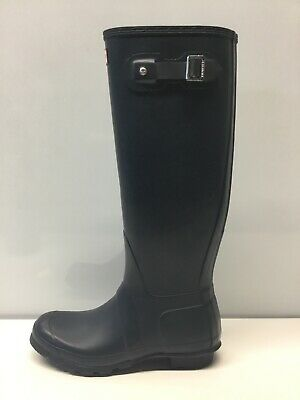 Hunter Original Women's Blue Navy Matt Tall Rubber Rain Boots Sz 8.⭐️