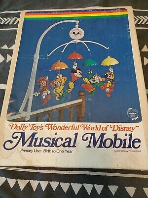 Vintage Disney Musical Wind-Up Baby Mobile