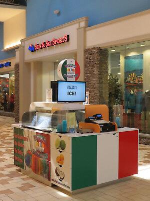 Mall Kiosk For Ice Cream - Italian Ice - Novelty Ice Creams - Steaks